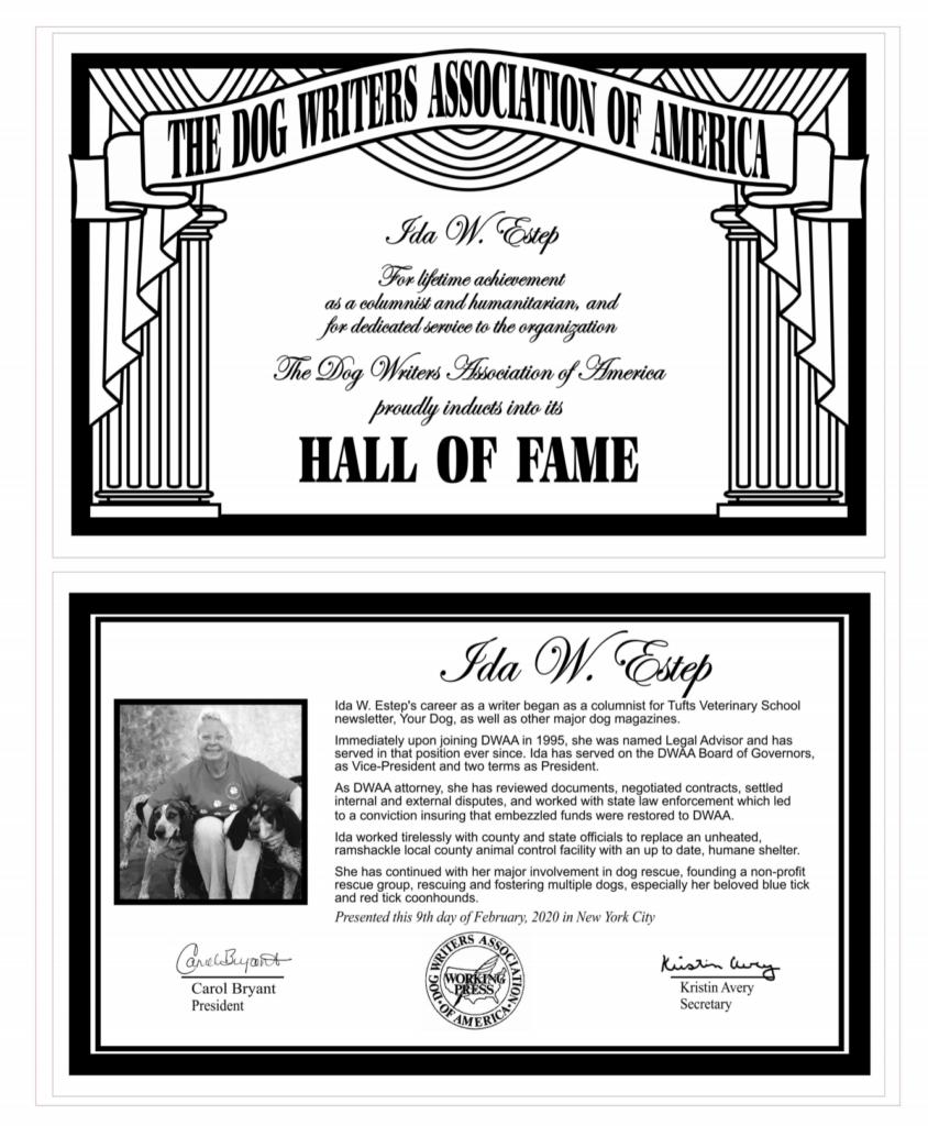 Ida Estep Hall of Fame